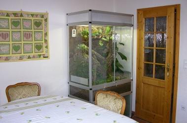 Terrarium BaoBab silber eloxiert.