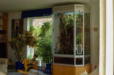 Terrarium Eleganz silber eloxiert.